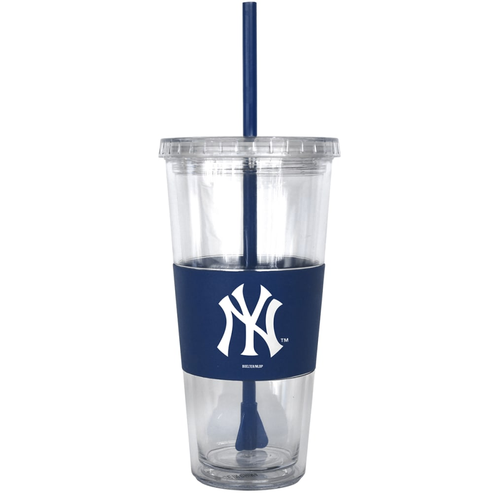 NEW YORK YANKEES Tumbler with Lid and Straw - ASSORTED
