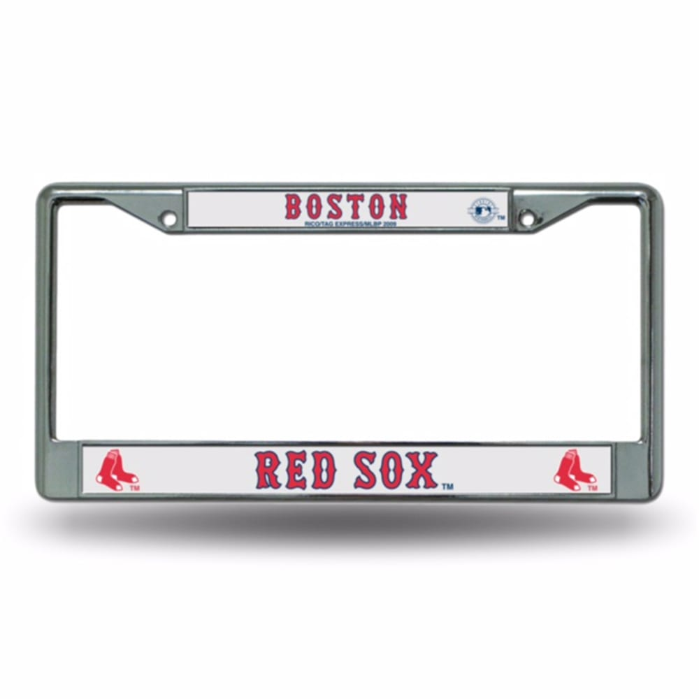 BOSTON RED SOX Chrome License Plate Frame - STAINLESS
