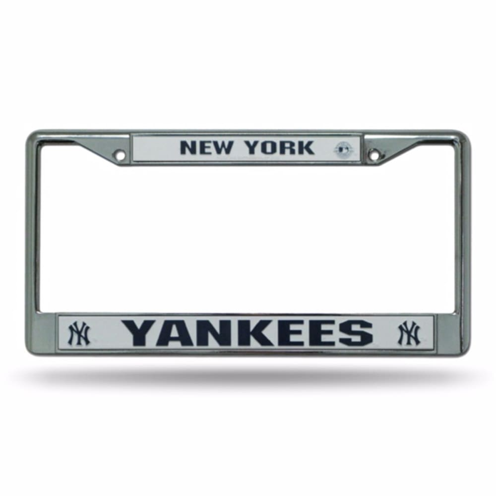NEW YORK YANKEES Chrome License Plate Frame - STAINLESS