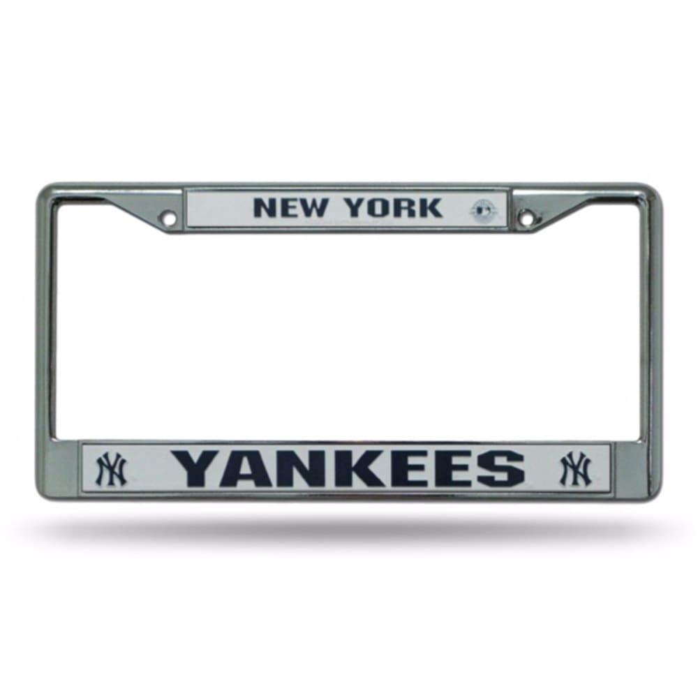 NEW YORK YANKEES Chrome License Plate Frame - STAINLESS