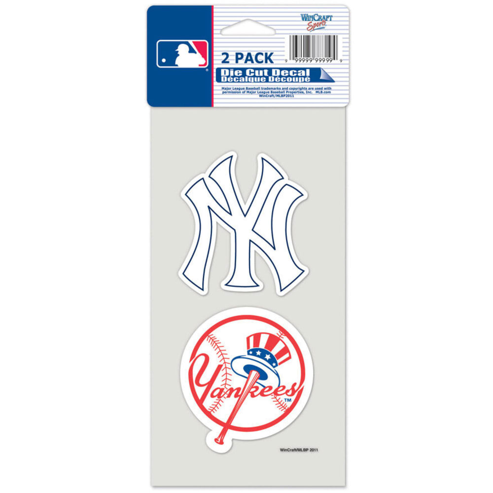 NEW YORK YANKEES Decals, 2-Pack ONE SIZE