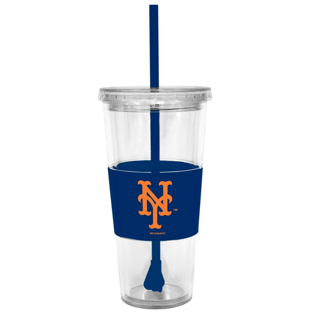 NEW YORK METS Tumbler with Lid and Straw - ASSORTED