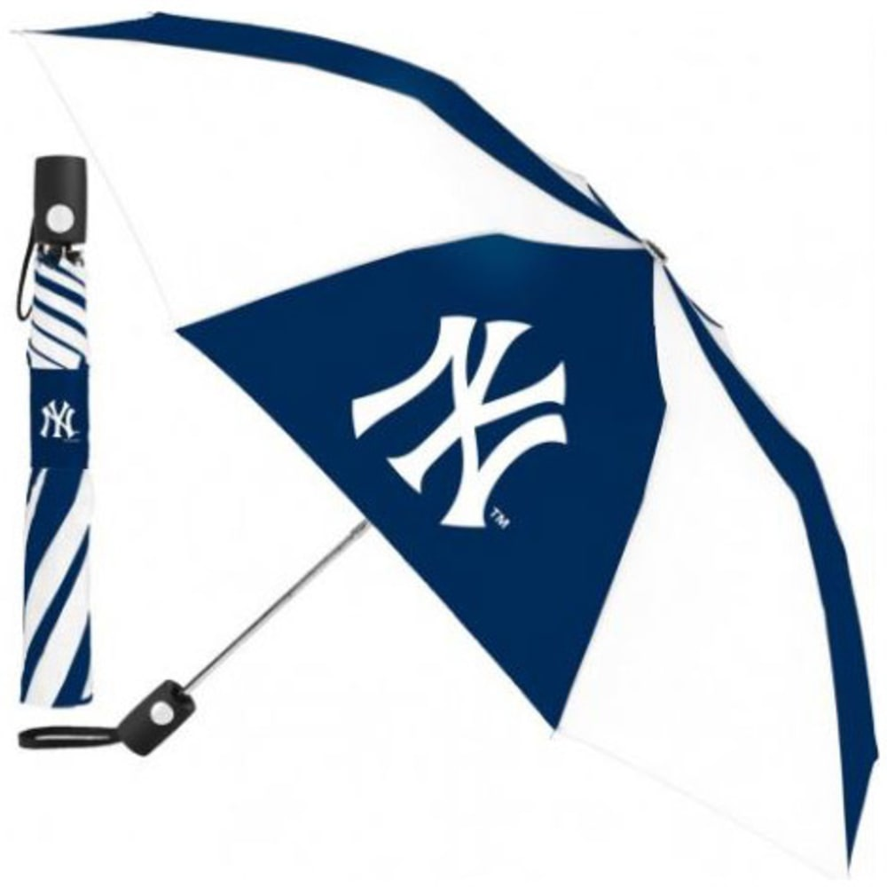 NEW YORK YANKEES Automatic Folding Umbrella - NAVY