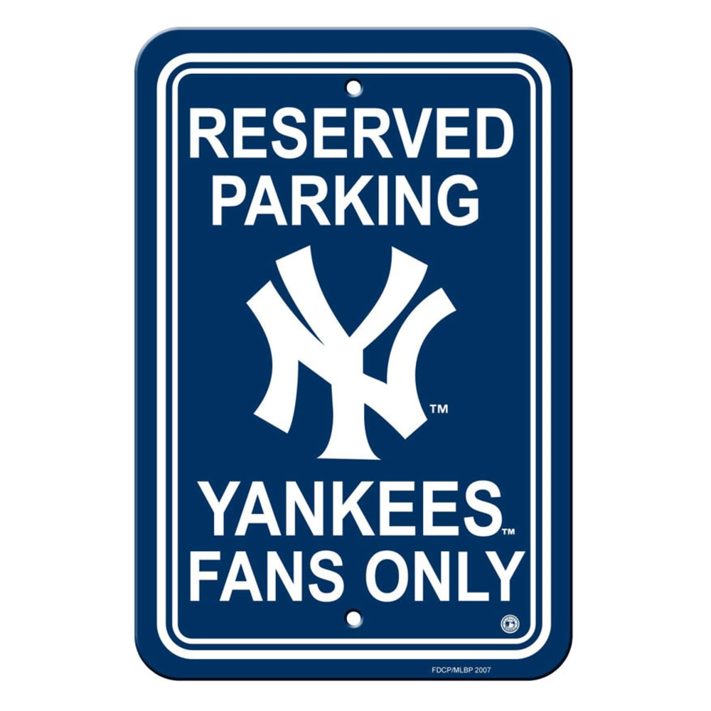 NEW YORK YANKEES Parking Sign - ASSORTED