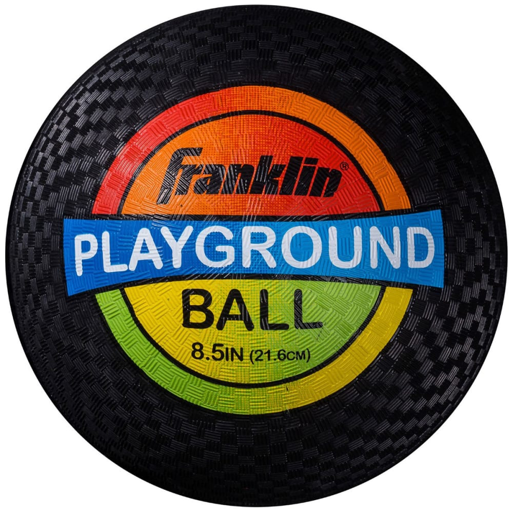 FRANKLIN Rubber Playground Ball - BLACK