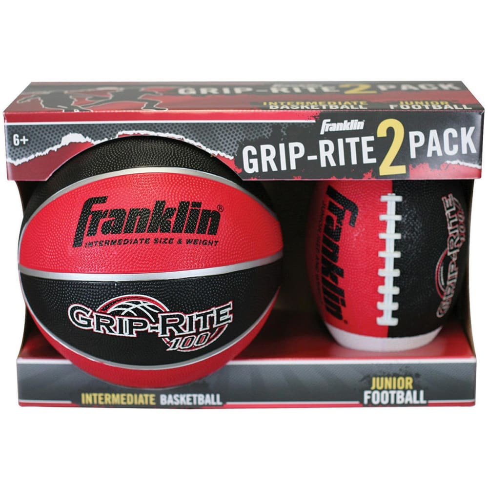 FRANKLIN Junior 2 Pack Sport Ball Set - RED