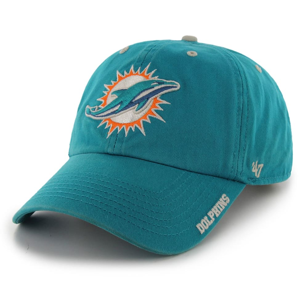 MIAMI DOLPHINS Ice Clean up Adjustable Cap - WHITE/SKY BLUE