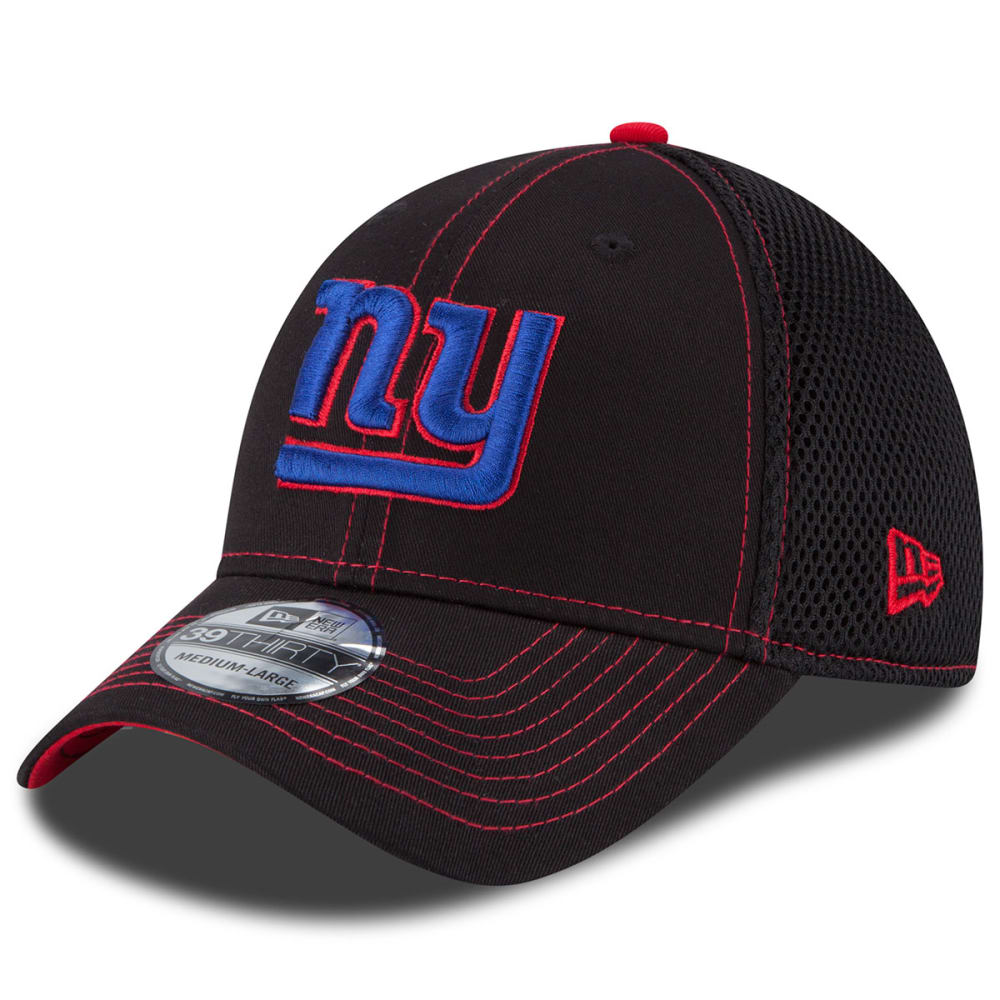 NEW YORK GIANTS Men's Crux Line Flex Fit Cap - BLACK