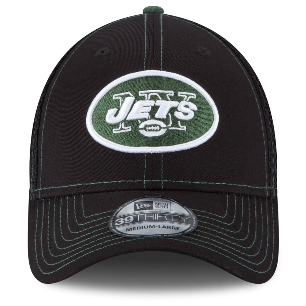 NEW YORK JETS Men's Crux Line Flex Fit Cap - BLACK