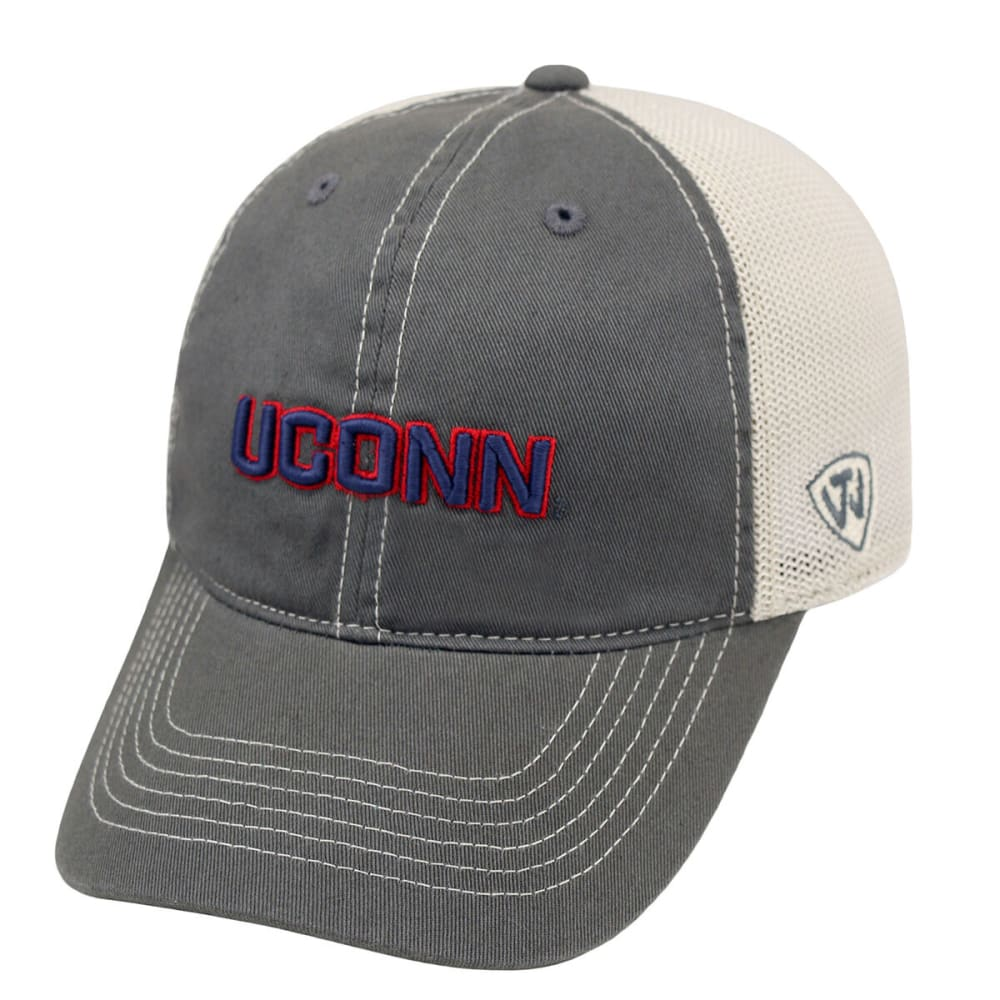 UCONN HUSKIES Putty Mesh Fit Cap - BLACK/FLASH RED