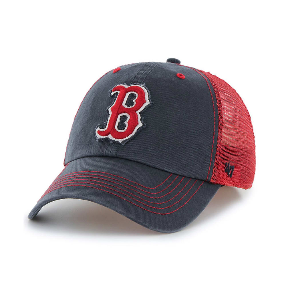 BOSTON RED SOX Taylor Mesh Flex Fit Cap - NAVY/RED