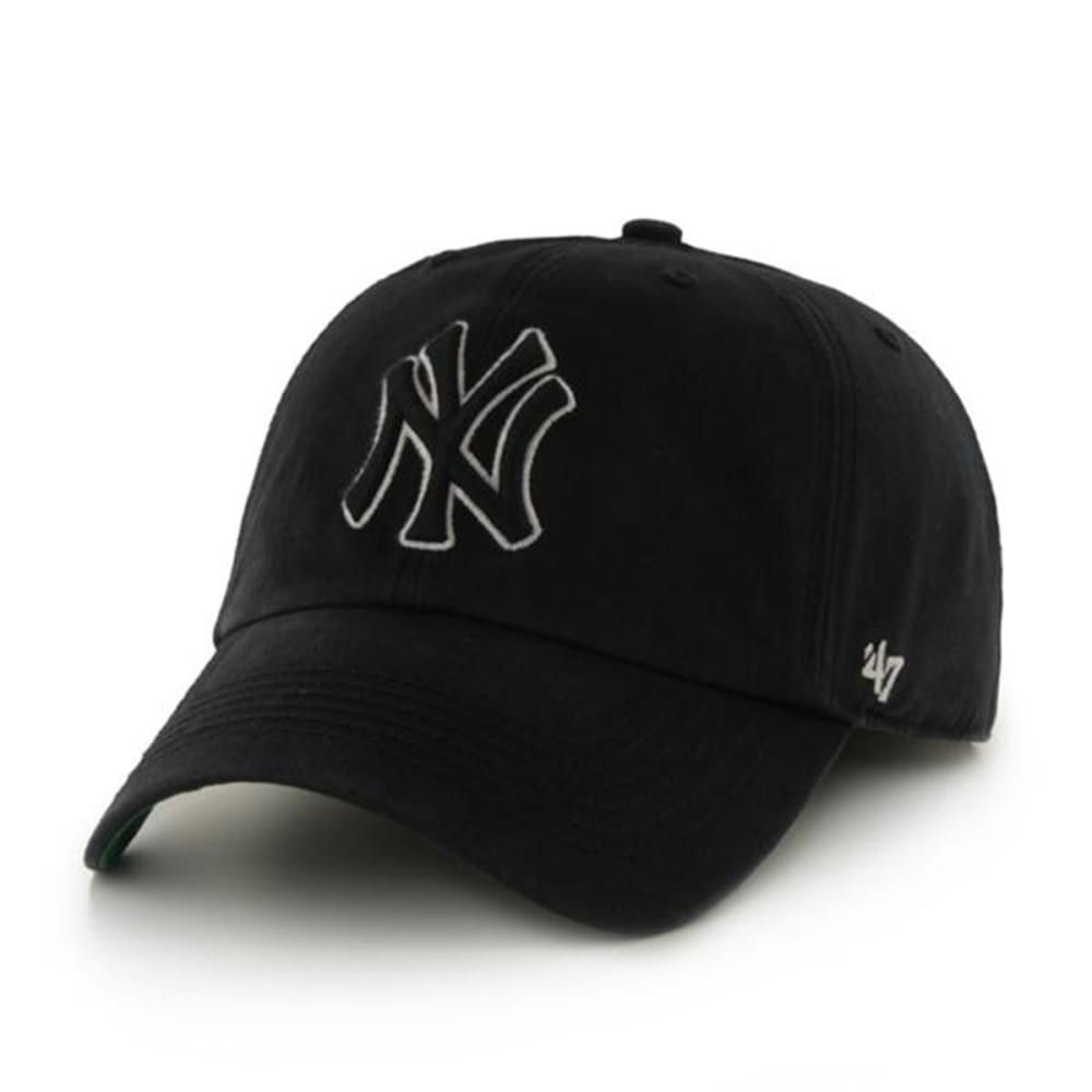 NEW YORK YANKEES Men's Lights Out '47 Franchise Fitted Hat - BLACK