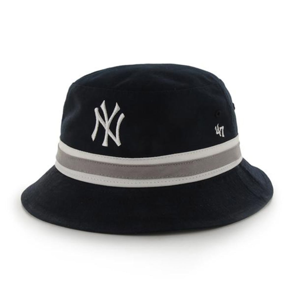 NEW YORK YANKEES Striped Bucket Hat - NAVY