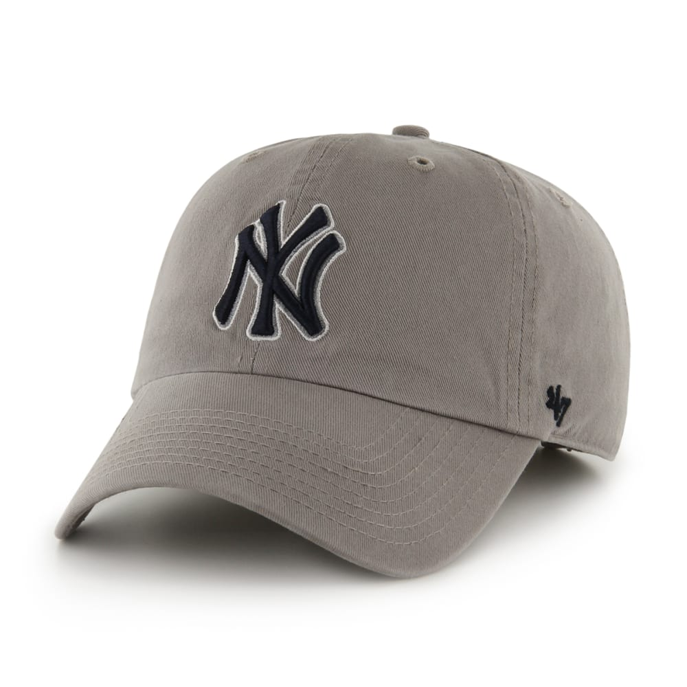 NEW YORK YANKEES Men's '47 Clean Up Grey Adjustable Cap - GREY