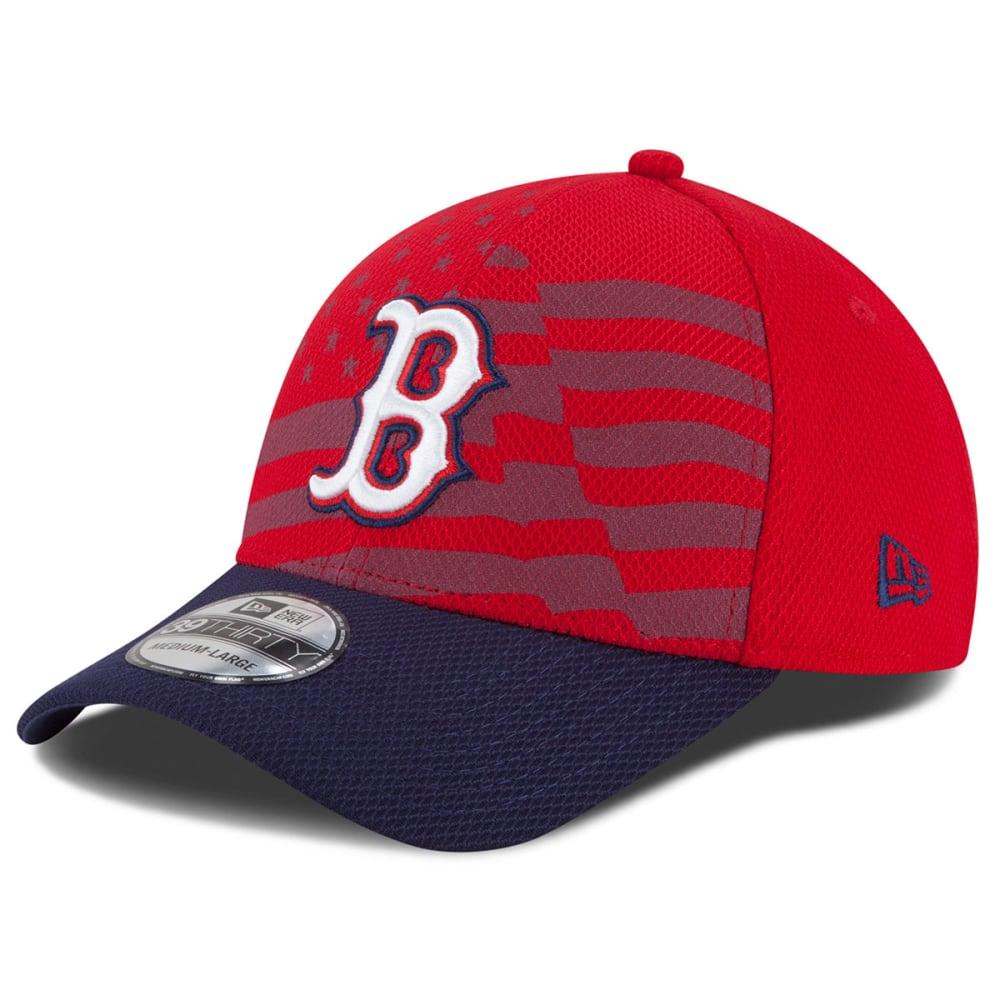 BOSTON RED SOX Stars & Stripes Flex Fit Cap - RED