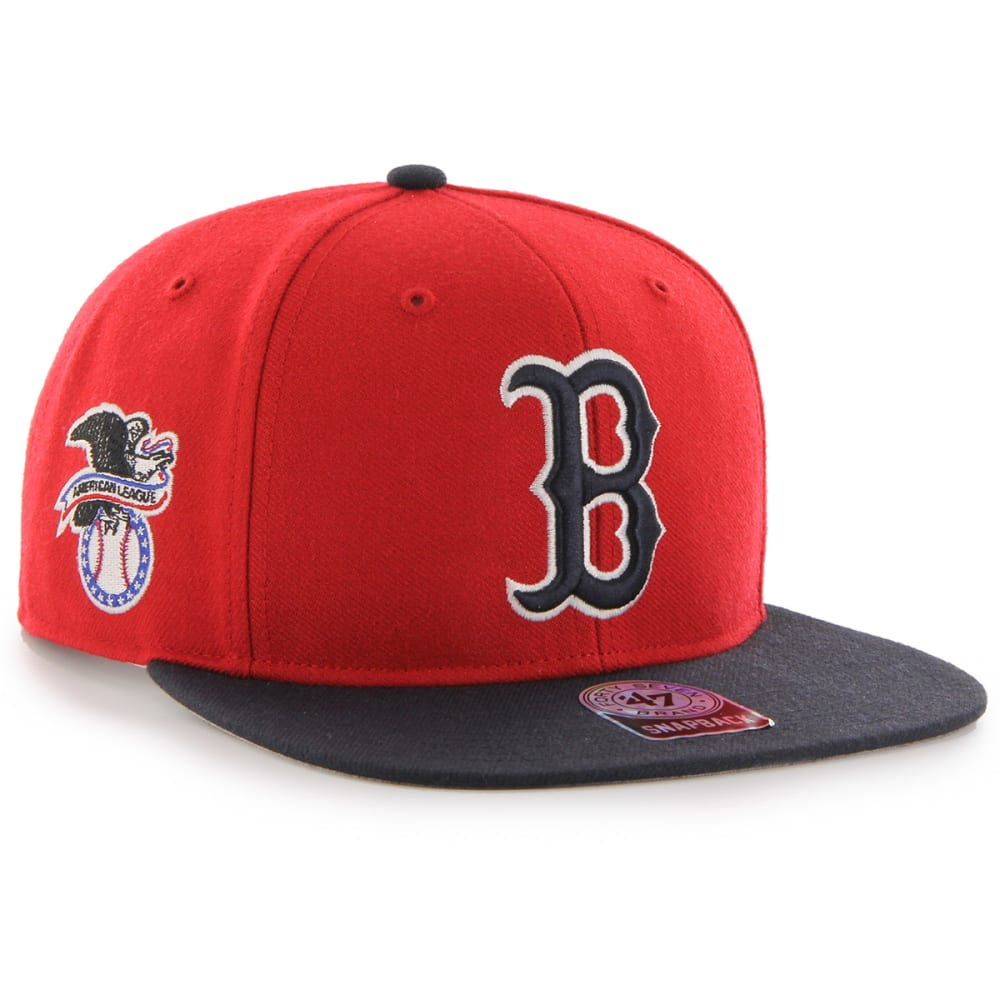 BOSTON RED SOX Men's '47 Sure Shot Two-Tone Snapback Hat - RED SOX