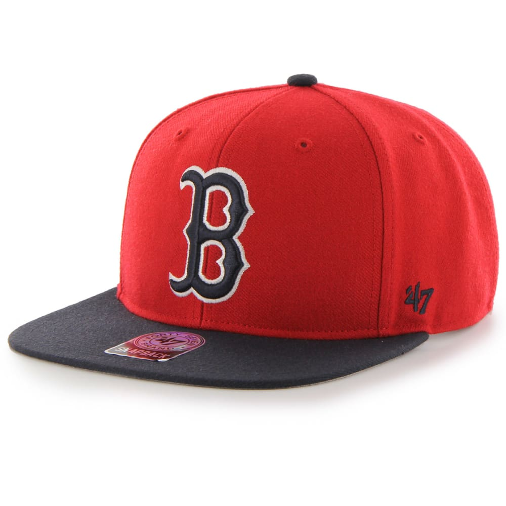 BOSTON RED SOX Sure Shot Two Tone Snapback Hat - RED SOX