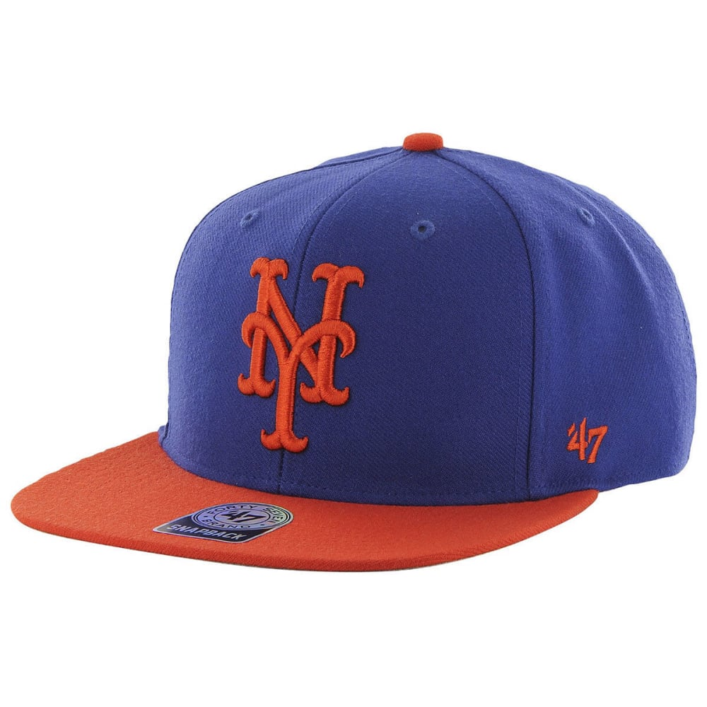 NEW YORK METS Men's '47 Sure Shot Two-Tone Cap - RYL/ORG