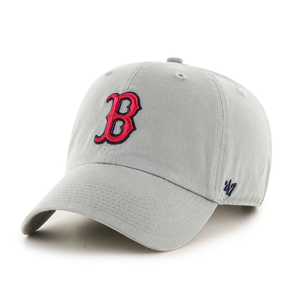 BOSTON RED SOX Clean Up Grey Adjustable Cap - LIGHT GREY