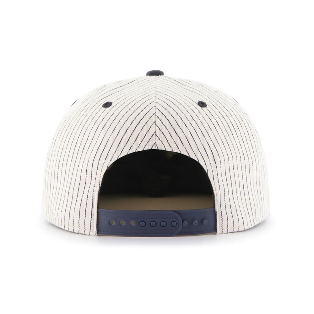 NEW YORK YANKEES '47 Woodside Pinstripe Snapback Hat - NAVY
