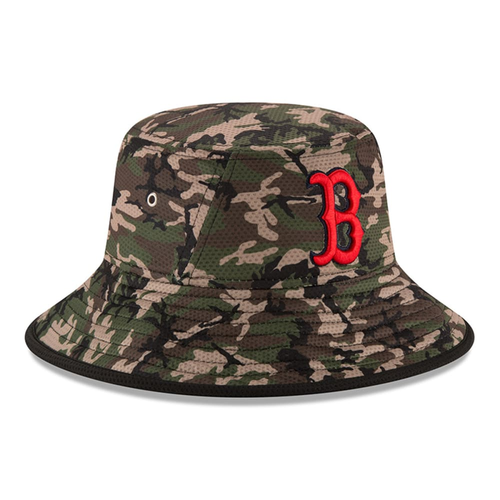 BOSTON RED SOX Camo Team Bucket Redux Hat - RED SOX