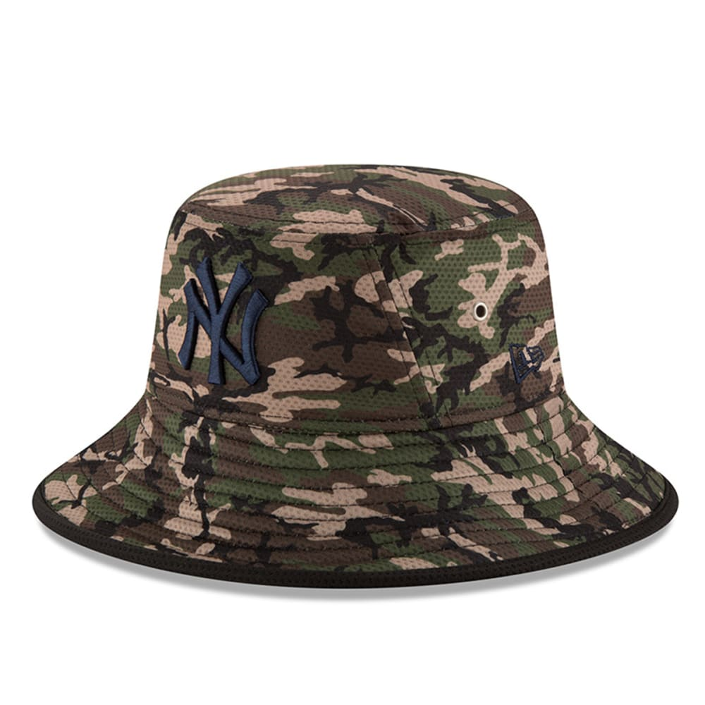 NEW YORK YANKEES Camo Team Bucket Redux Hat - YANKEES