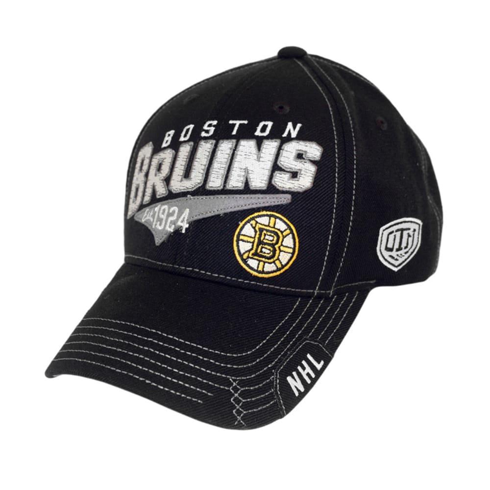 BOSTON BRUINS Pinnacle Black Adjustable Hat - BLACK