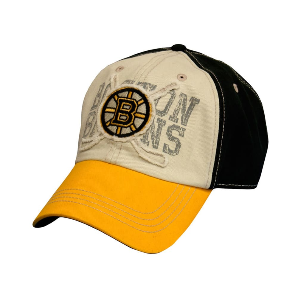 OLD TIME HOCKEY Boston Bruins Rattled Tricolor Adjustable Cap - ASSORTED