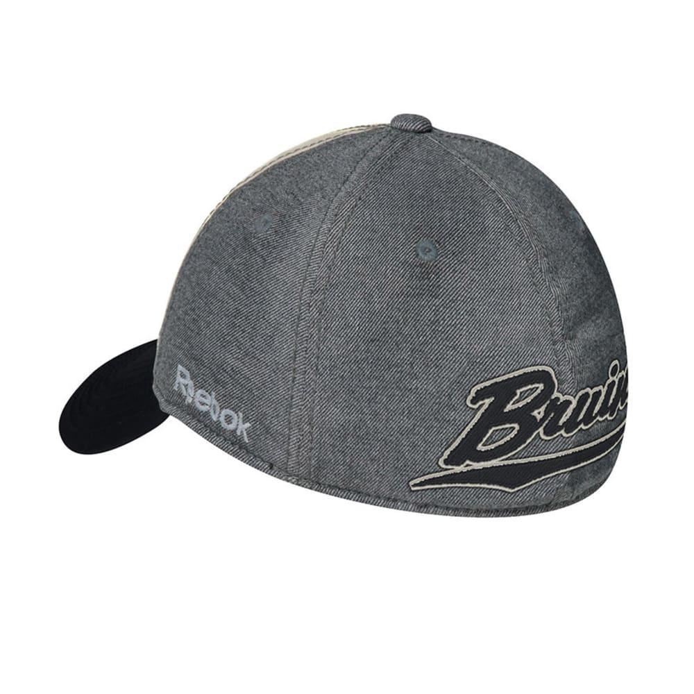 BOSTON BRUINS Slouch Flex Fit Hat - GREY/WHITE