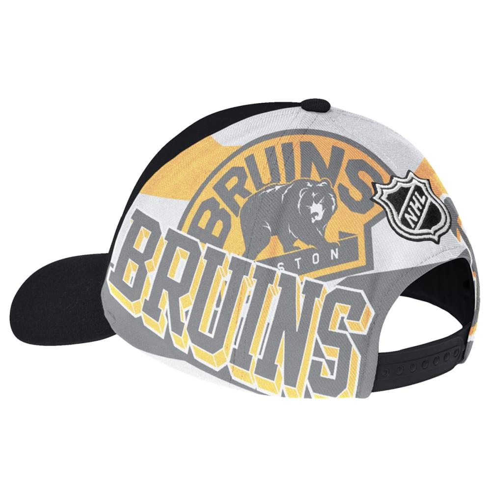 BOSTON BRUINS Black Mesh Back Adjustable Cap - BLACK