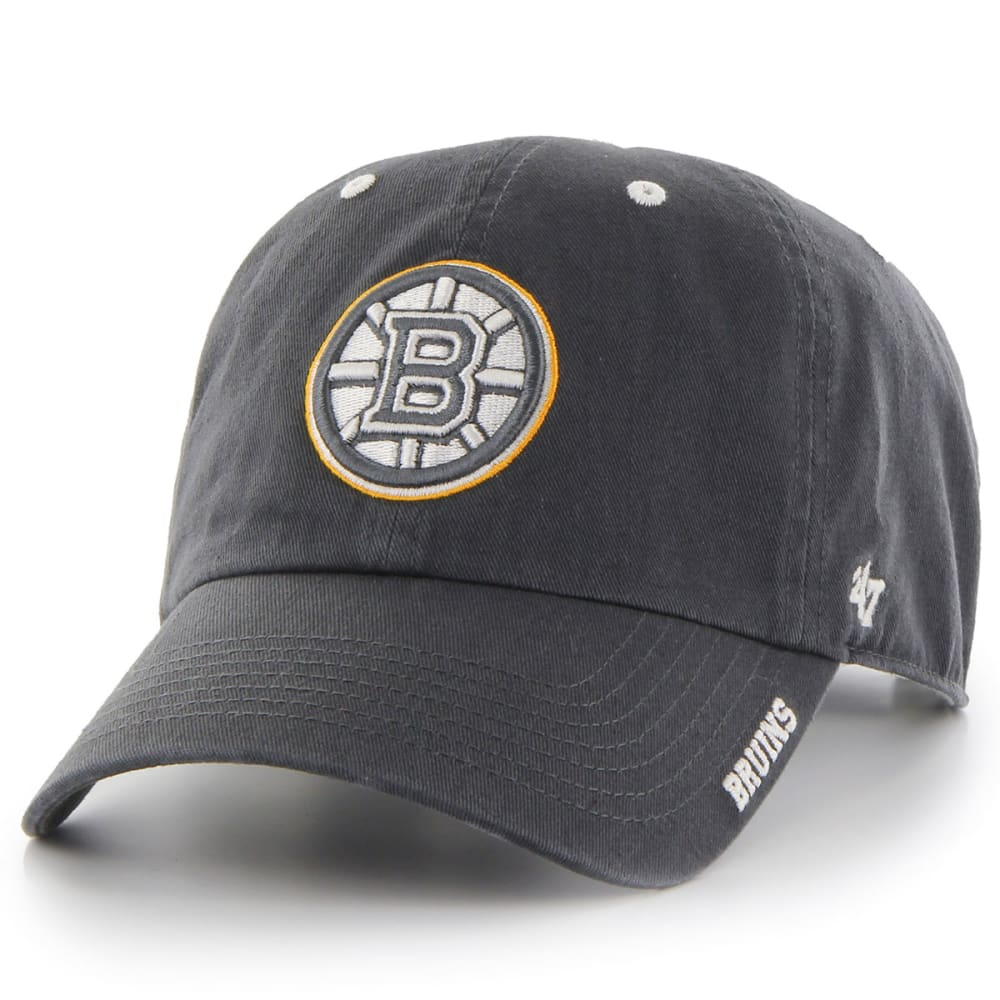 BOSTON BRUINS Men's '47 Ice Adjustable Cap - GRAVEL/RED