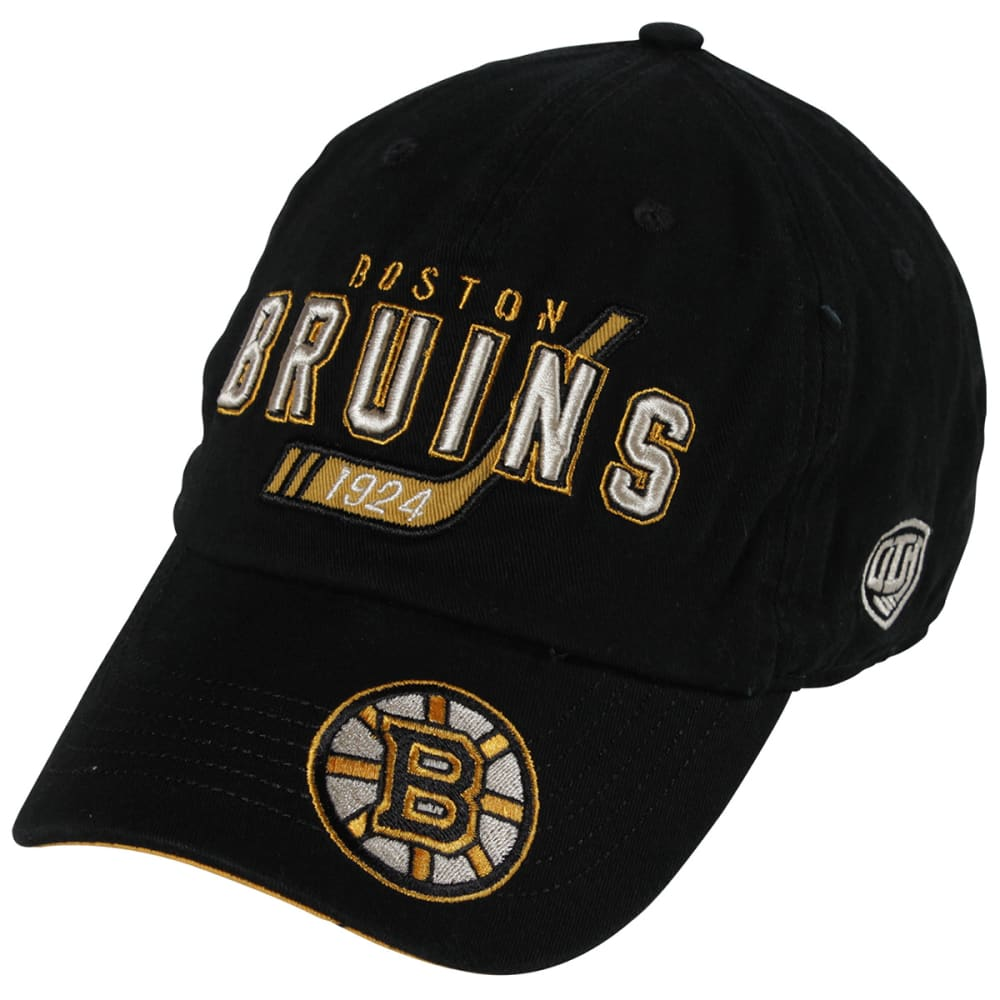 BOSTON BRUINS Knox Black Adjustable Cap - BLACK/YELLOW