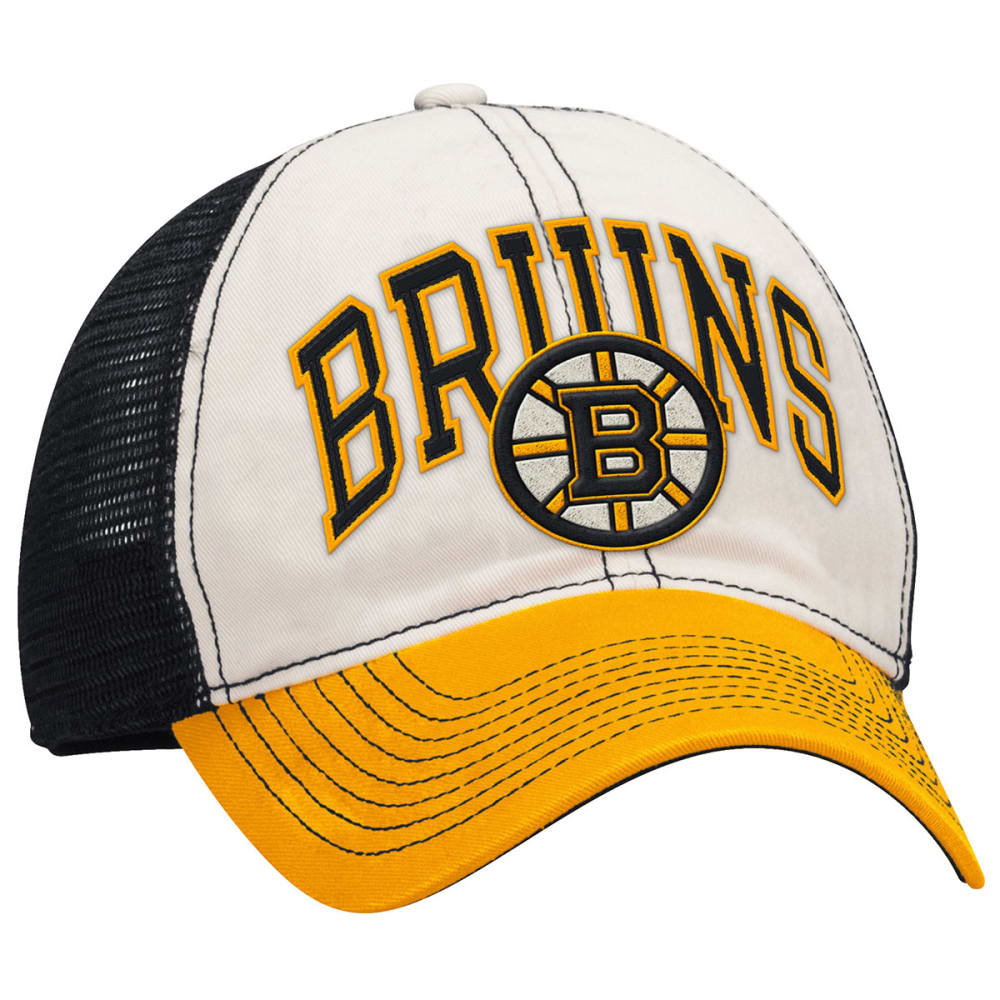 BOSTON BRUINS Tricolor Mesh Flex Fit Cap - ASPHALT HEATHER/GRAP