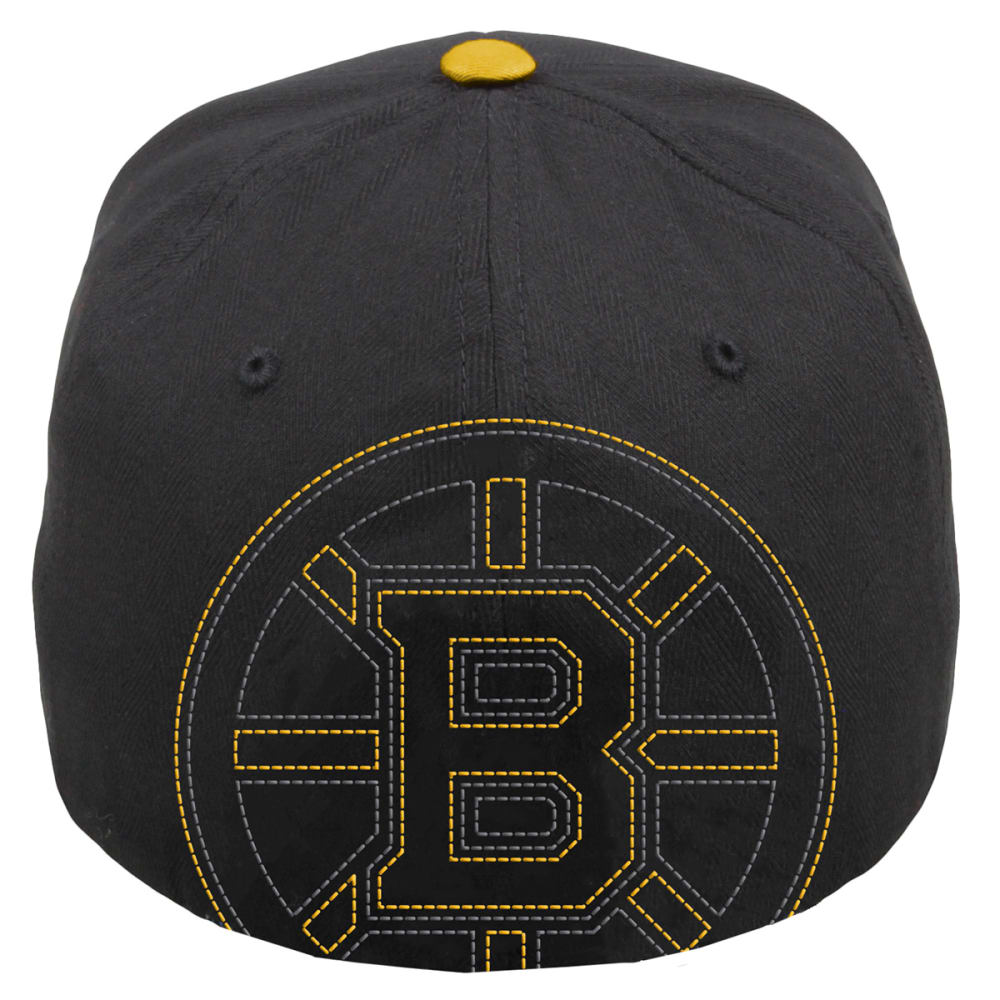 BOSTON BRUINS Black Knight Flex Fit Cap - BLACK/YELLOW
