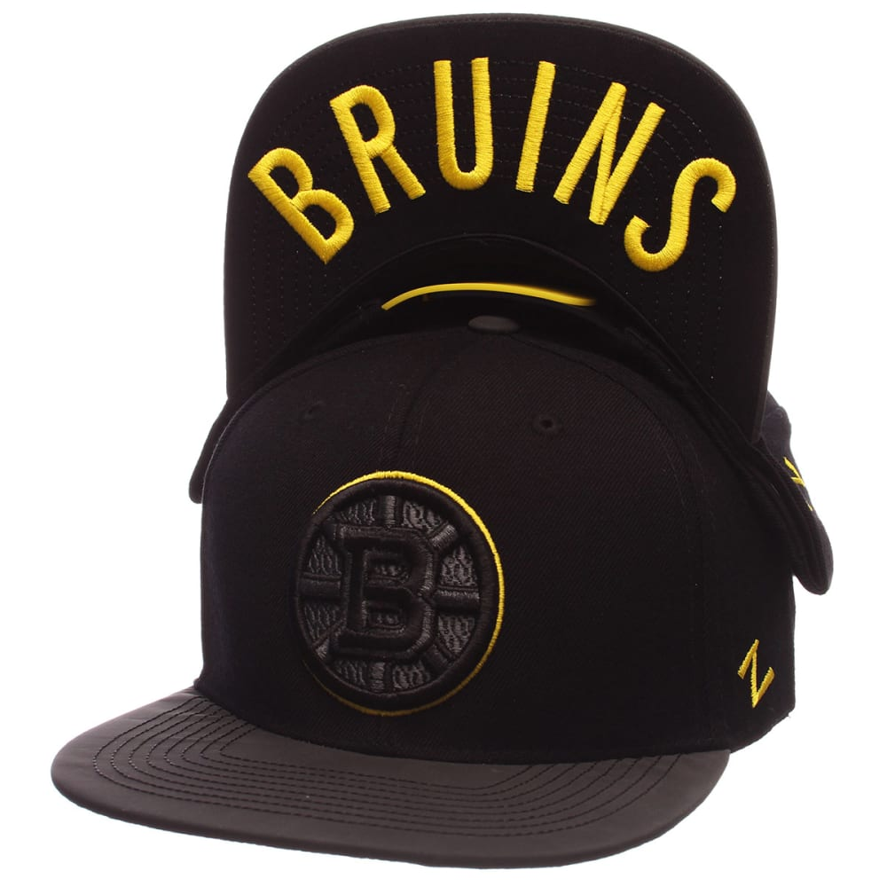BOSTON BRUINS Nightfall Black Snapback Hat - BLACK