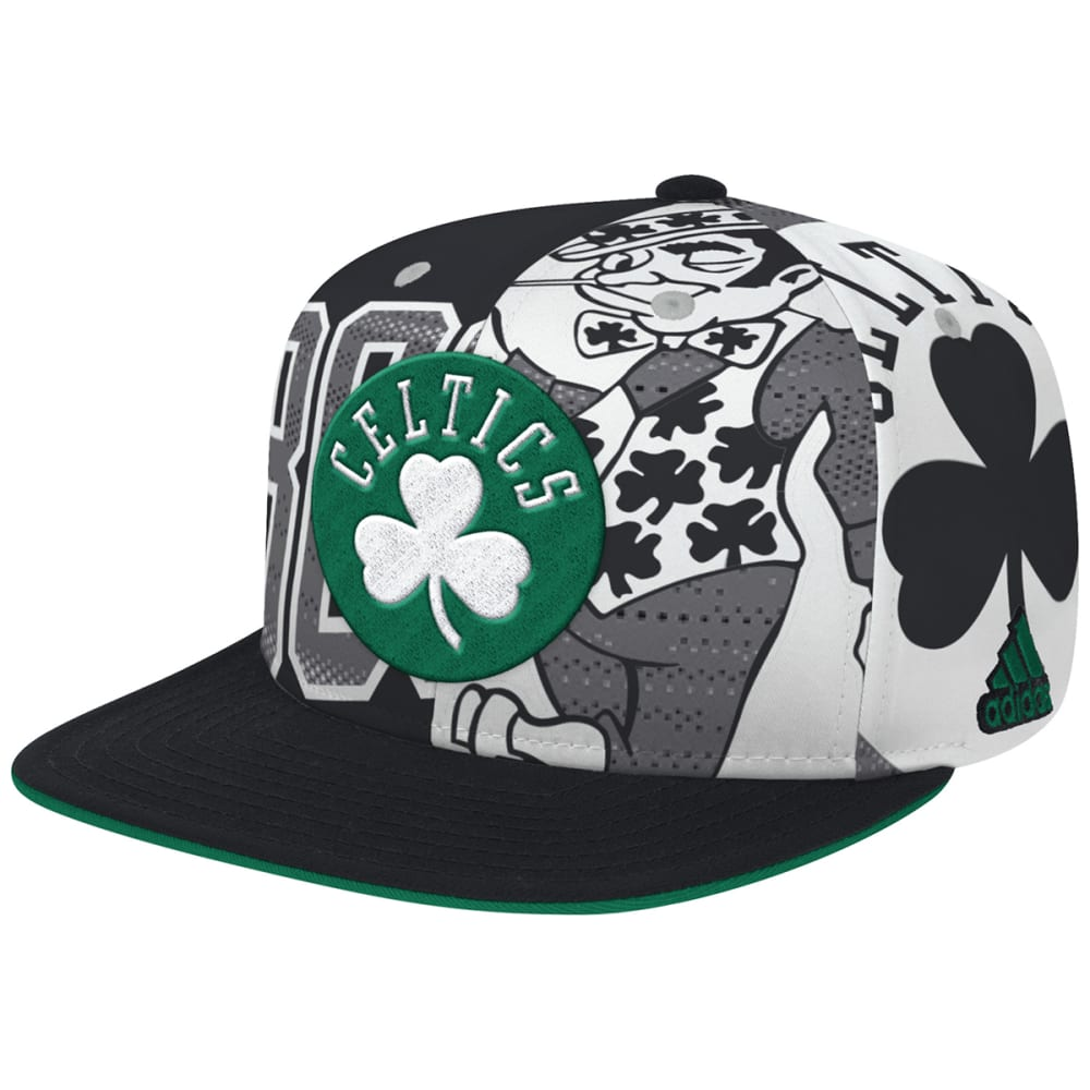 BOSTON CELTICS NBA 2016 All Team Screen Print Fitted Cap - MULTI