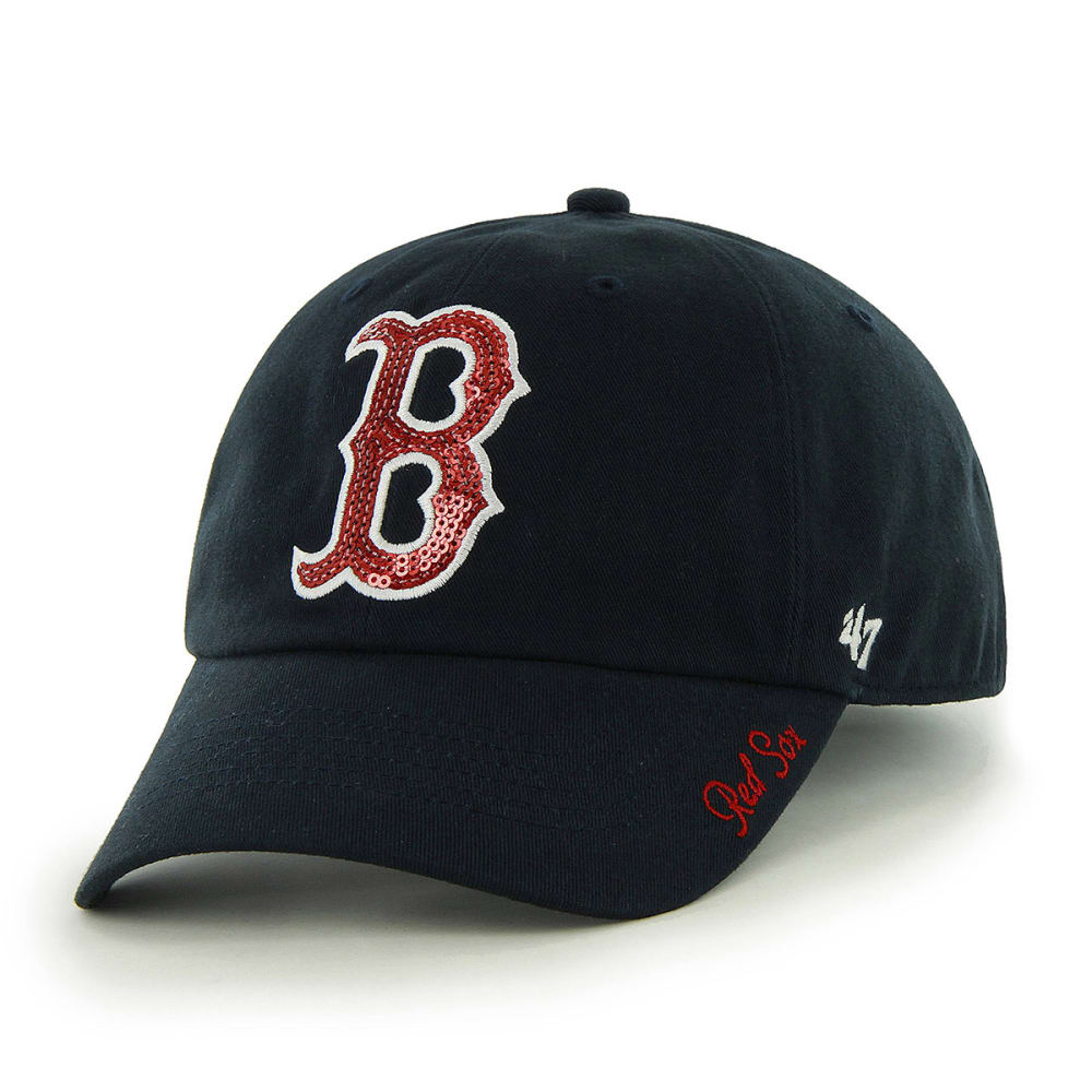 BOSTON RED SOX Women's '47 Sparkle Adjustable Cap ONE SIZE