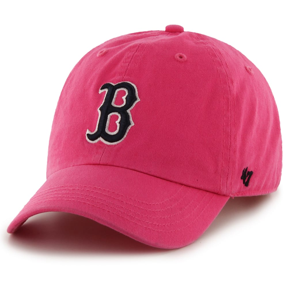 BOSTON RED SOX Women's'47 Clean Up Adjustable Hat - PINK