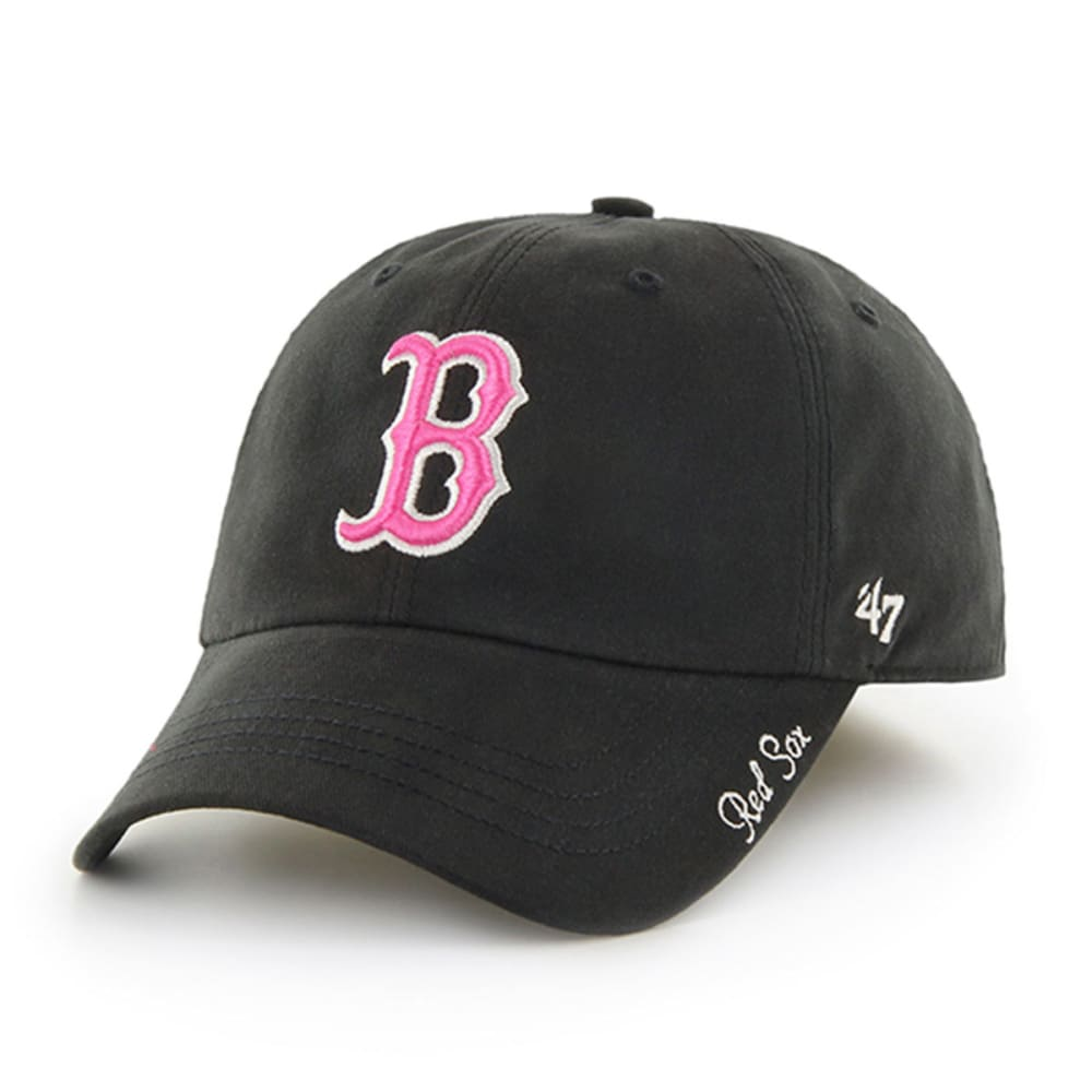 BOSTON RED SOX Women's '47 Miata Adjustable Hat - BLACK/PINK
