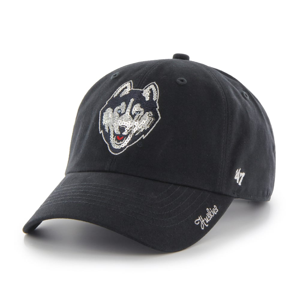 UCONN HUSKIES Women's Sparkle Adjustable Cap - NAVY