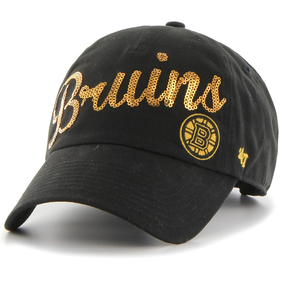 BOSTON BRUINS Sparkle Script Adjustable Cap - BLACK/YELLOW