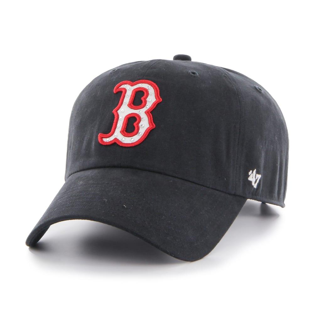 BOSTON RED SOX Women's Gemstone Adjustable Cap - NAVY