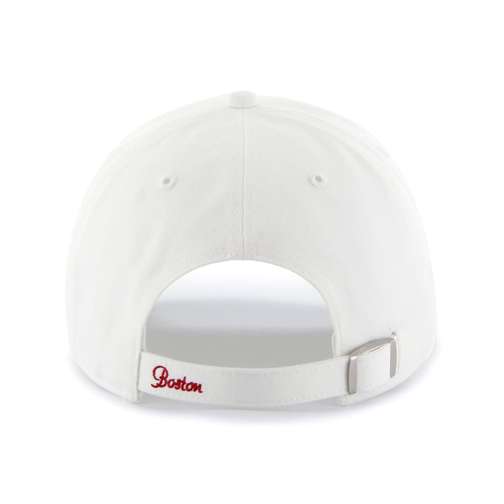 BOSTON RED SOX Women's Sparkle White Adjustable Cap - WHITE