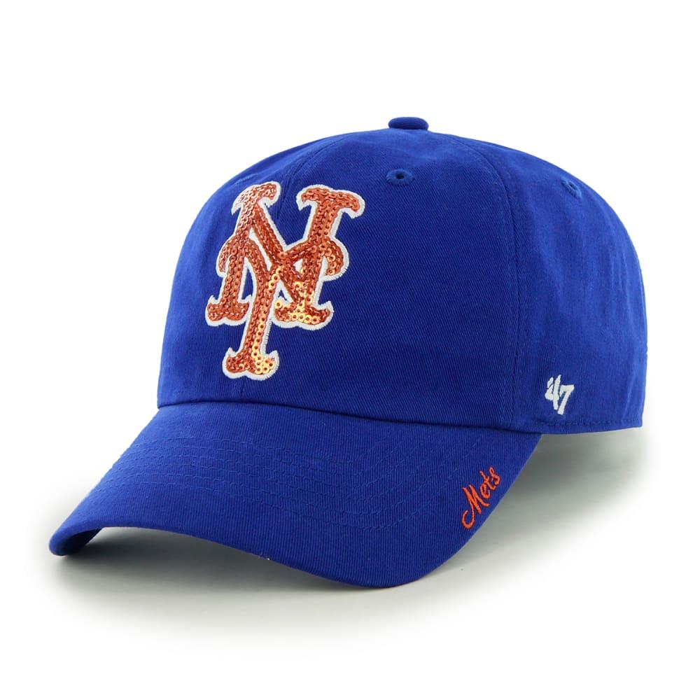 NEW YORK METS Women's Sparkle Adjustable Cap - ROYAL