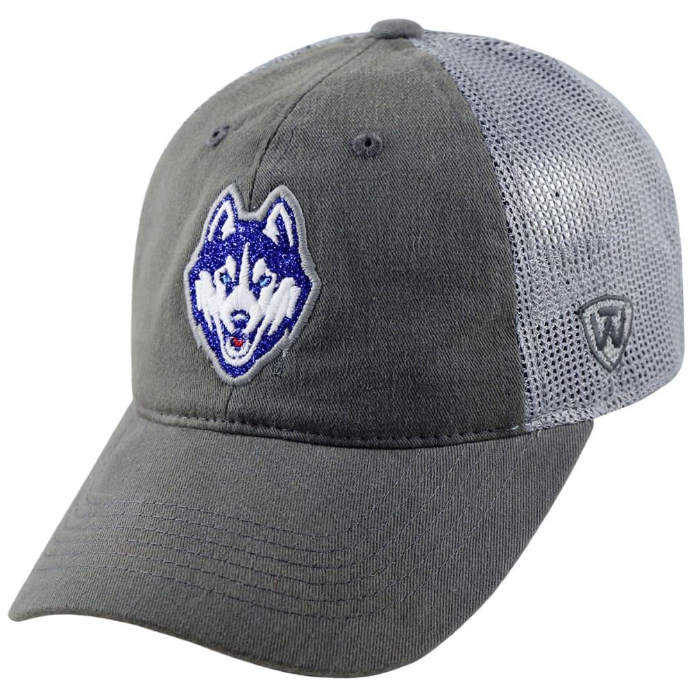 UCONN Women's Charisma Dog Logo Mesh Adjustable Hat - UCONN