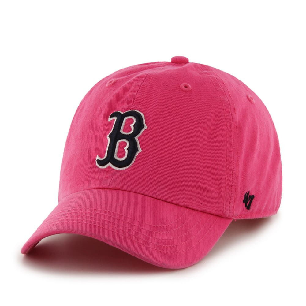 BOSTON RED SOX Kids' Clean Up Adjustable Cap - PINK