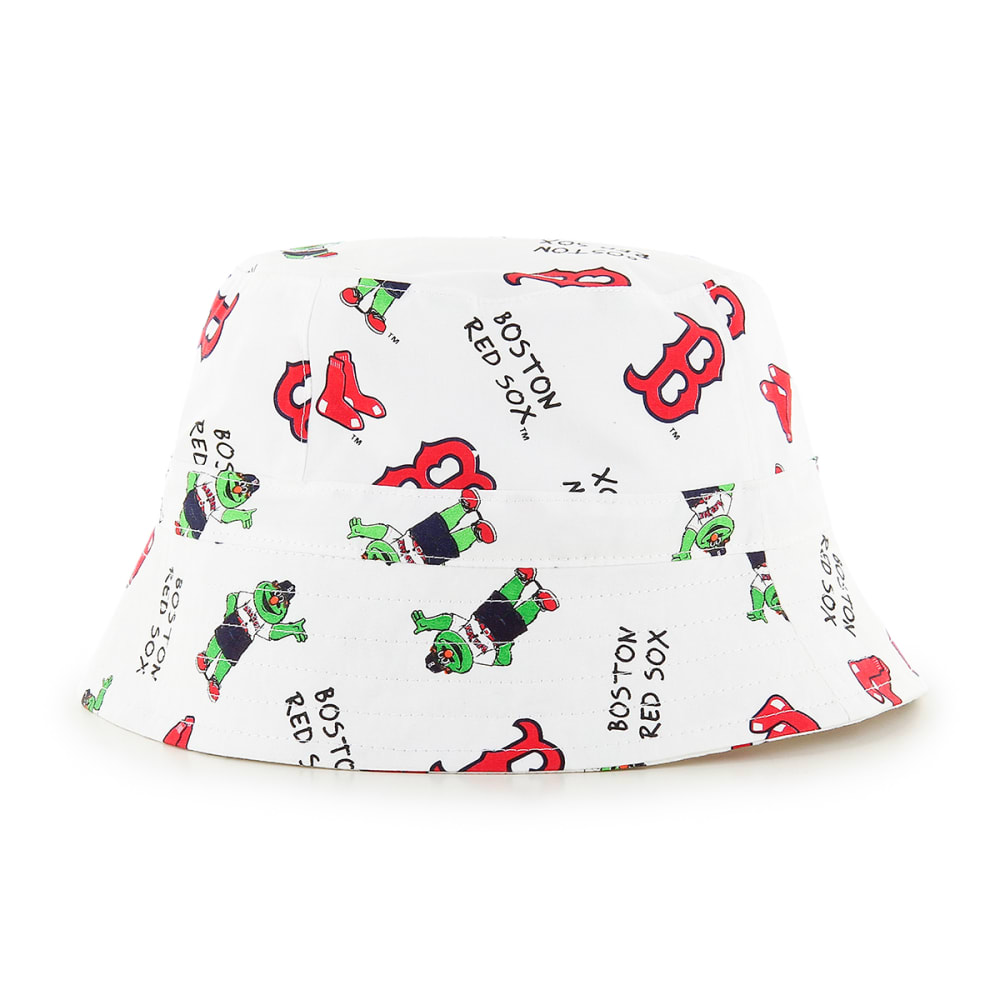 BOSTON RED SOX Toddler Baby Bucket Hat - WHITE