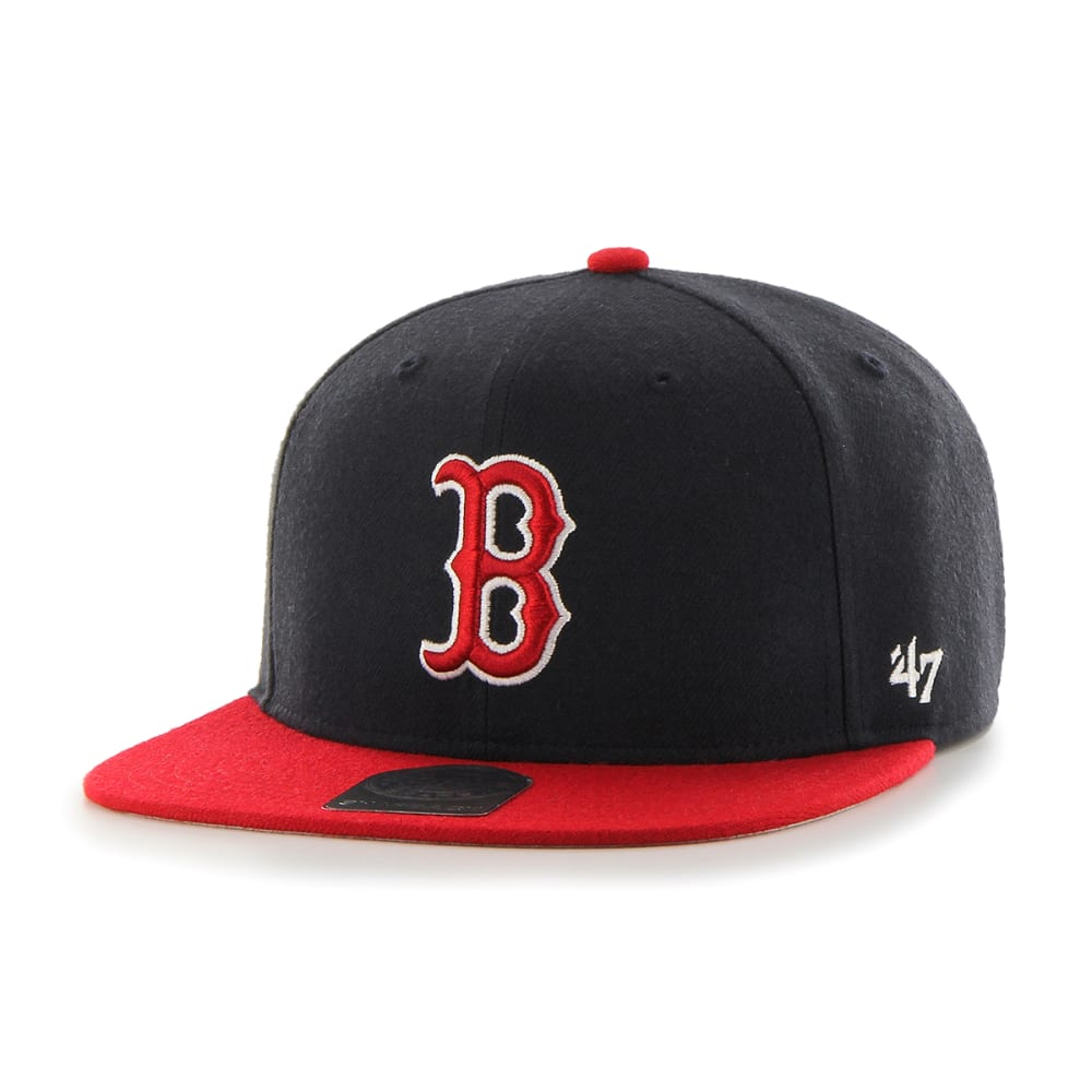 BOSTON RED SOX Kids' '47 Lil Shot Two-Tone Snapback Hat - NAVY