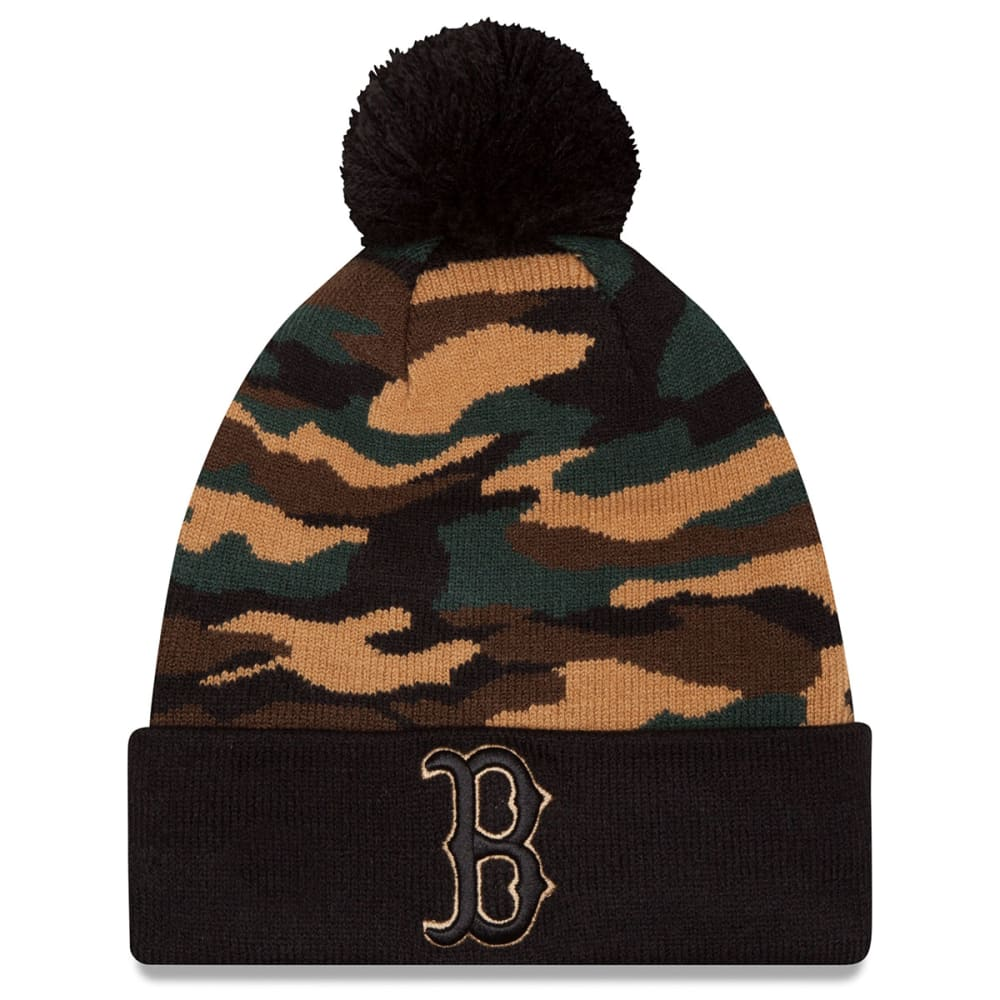 BOSTON RED SOX Camo Captivate Knit Hat - CAMO