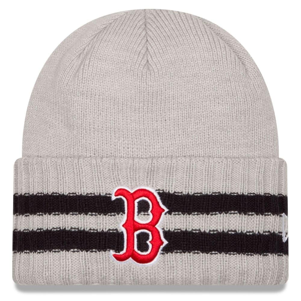 BOSTON RED SOX Men's 2 Striped Cuff Knit Beanie - GREY